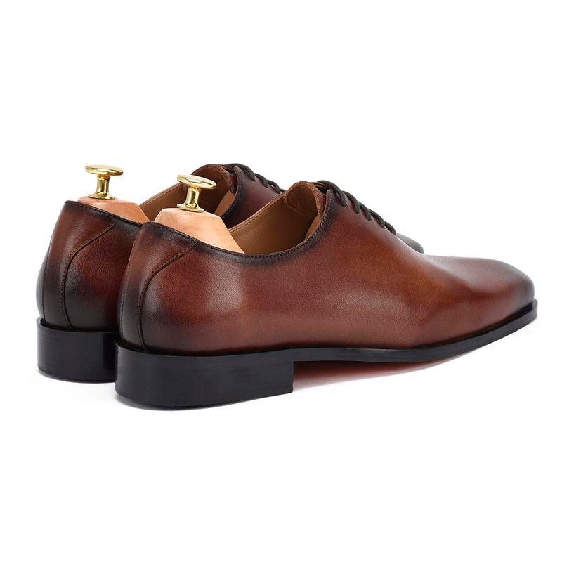 Chiseled British Brown Oxfords