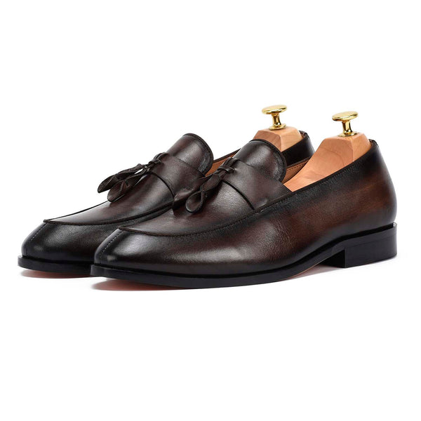 Spanish Tassel Coffee Loafers