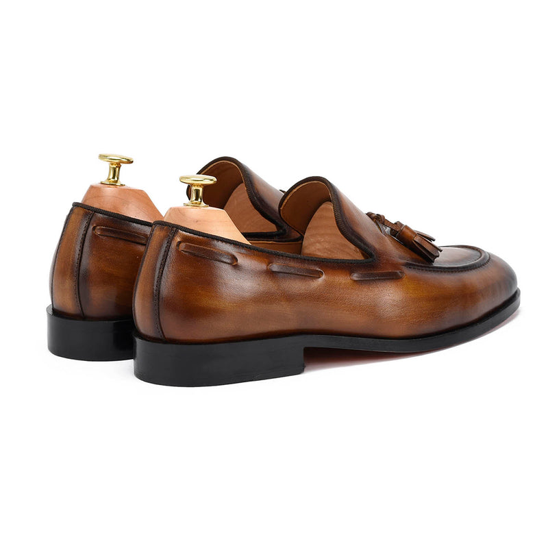 Edmond Tassel Brown Loafers