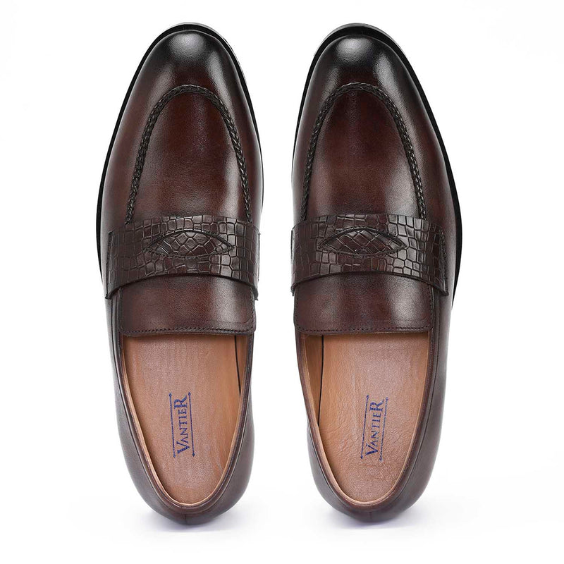 Romanian Coffee Penny Loafers