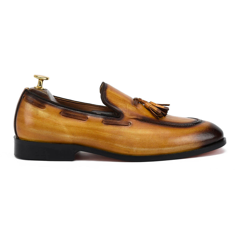 Edmond Tassel Tan Loafers
