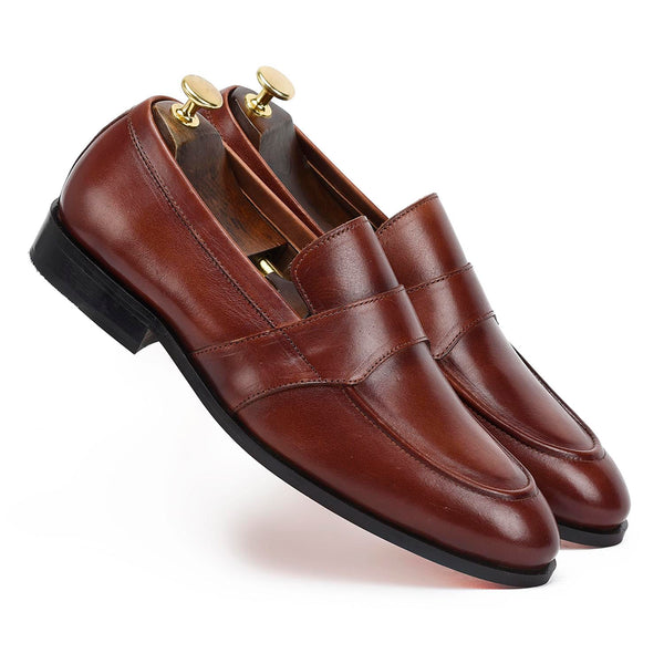 Alexander U Tip Brown Loafer