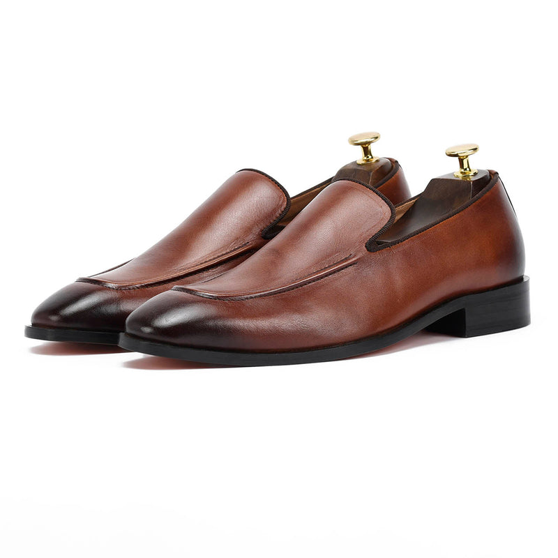 Adonis Brown Slip Ons