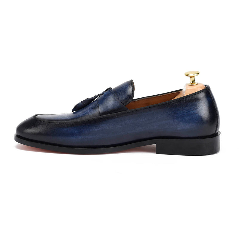 Spanish Tassel Blue Loafers