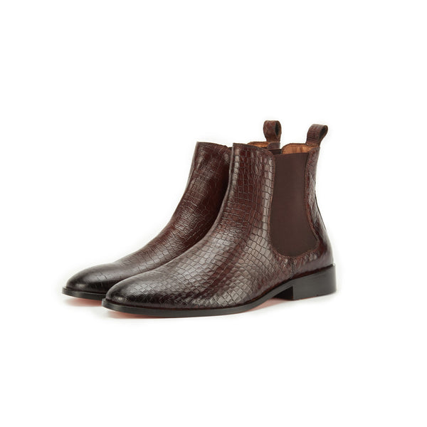 Croco Boot Brown