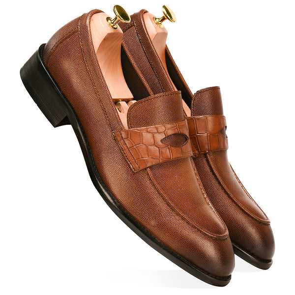 Alexander Tan Brown Loafers