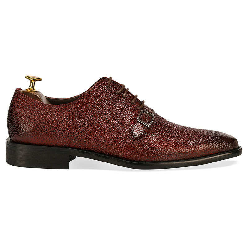 Stingray Leather Oxfords – Wine