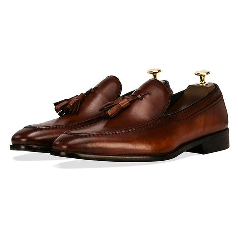 Adonis Tassel Loafers - Brown