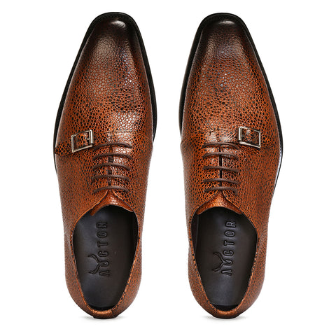 Stingray Leather Oxfords – Brown