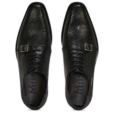 Stingray Leather Oxfords - Black