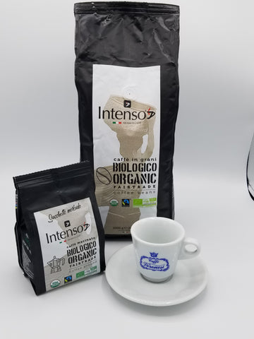 Organic collection, 250gr , 1kg beans and 1 Espresso cups/saucers Package Deal 🇮🇹