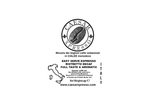 Decaf Ristretto Collection ESE pods, Easy Serve Espresso High Quality Italian Coffee