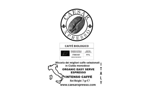 Organic Intenso Collection ESE pods, Easy Serve Espresso High Quality Italian Coffee