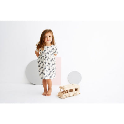 Stylish Goose Print Dress