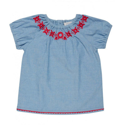 Adriana Blouse in light blue