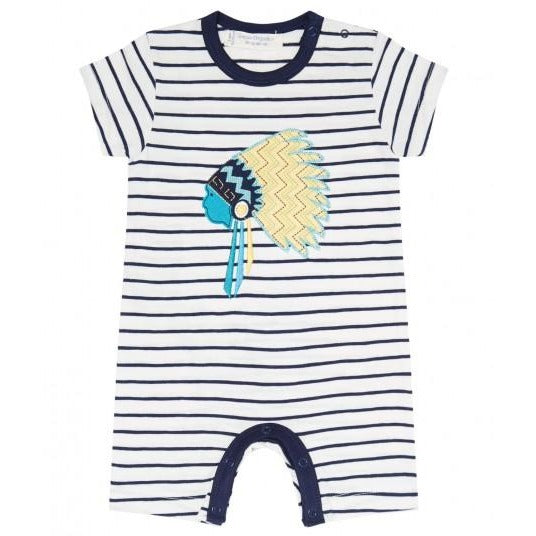 Navy Striped Baby Jumpsuit