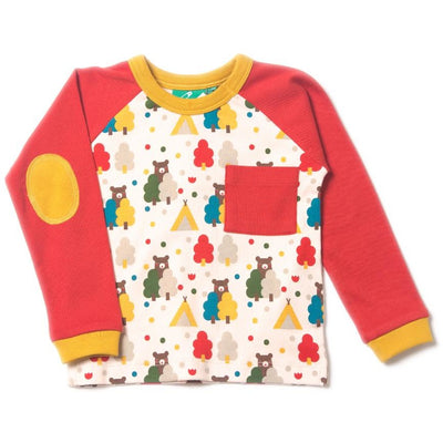 Red Bear Raglan Top