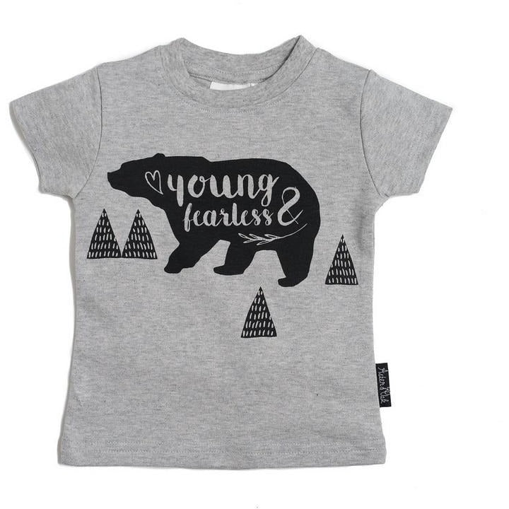 Young & Fearless Tee Grey