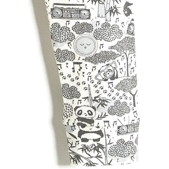 Panda Print Grey Leggings