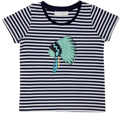 Navy stripes T-Shirt Liko