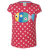 Raspberry Polka Fish T-shirt