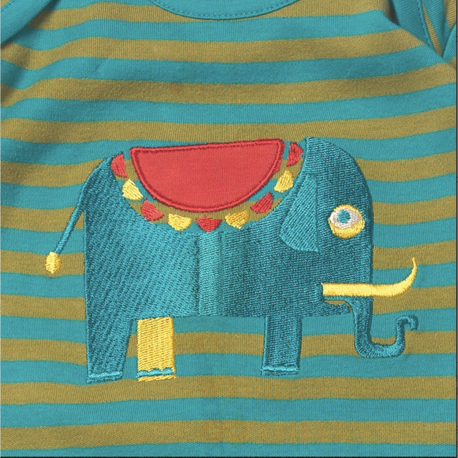 Jungle Elephant Babygrow