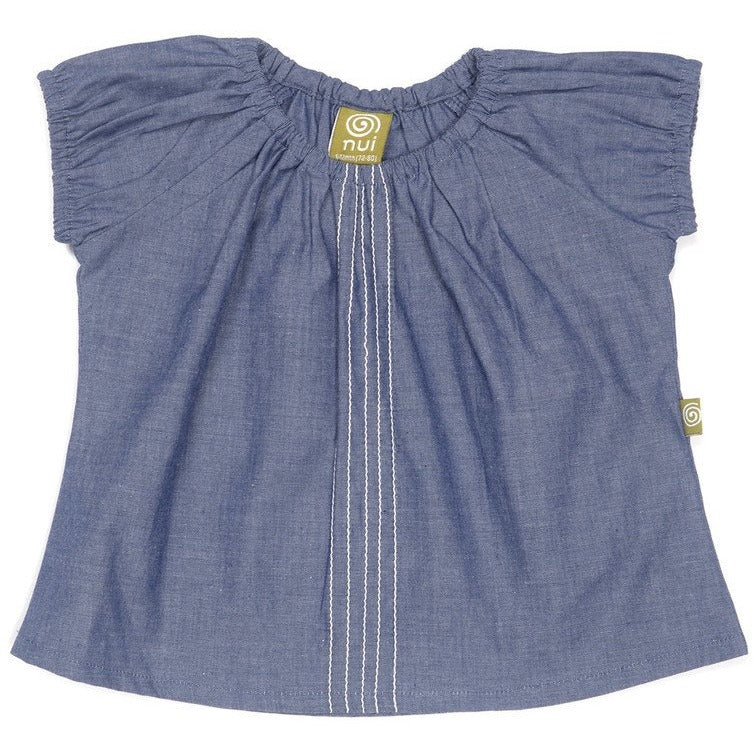 Anijah Chambray Top Indigo