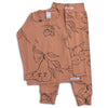 Terracotta Star Long PJ set