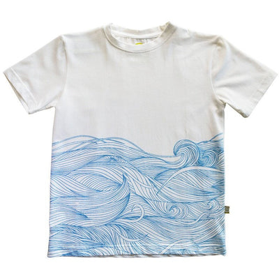 Easy Tiger Tee White Waves
