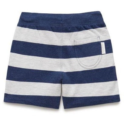 Track Short Blue Stripe