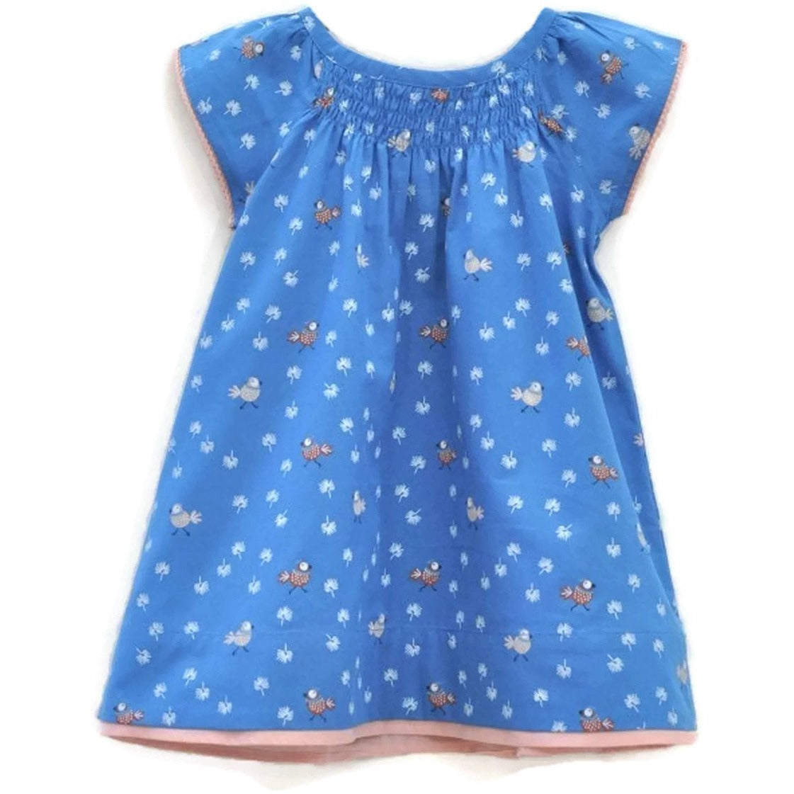 Piccalilly Organic Cotton Kids Robe 2Y-4Y Blue