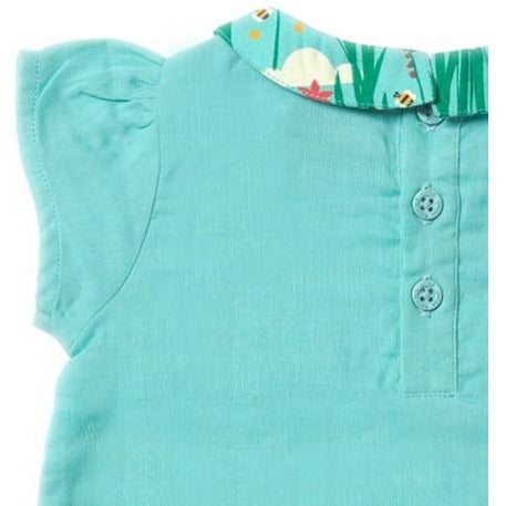Sky Blue double clothe blouse