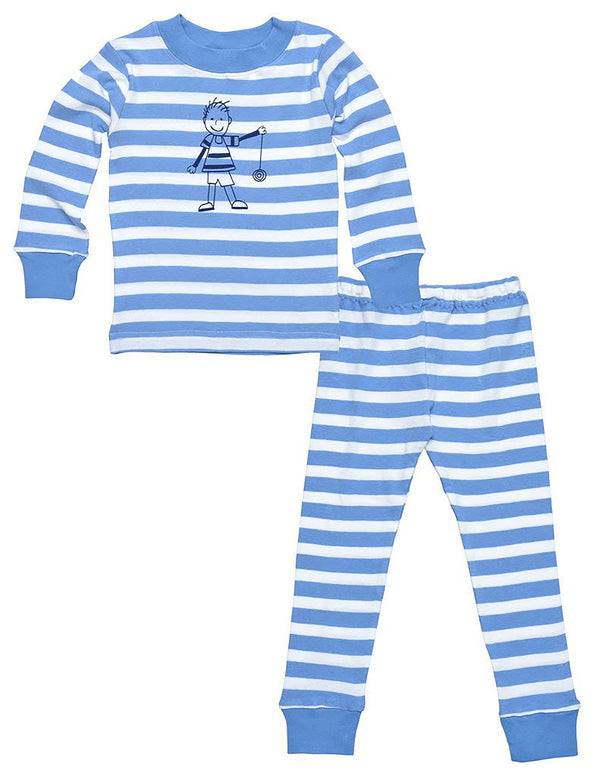 Kids long John Blue Stripe