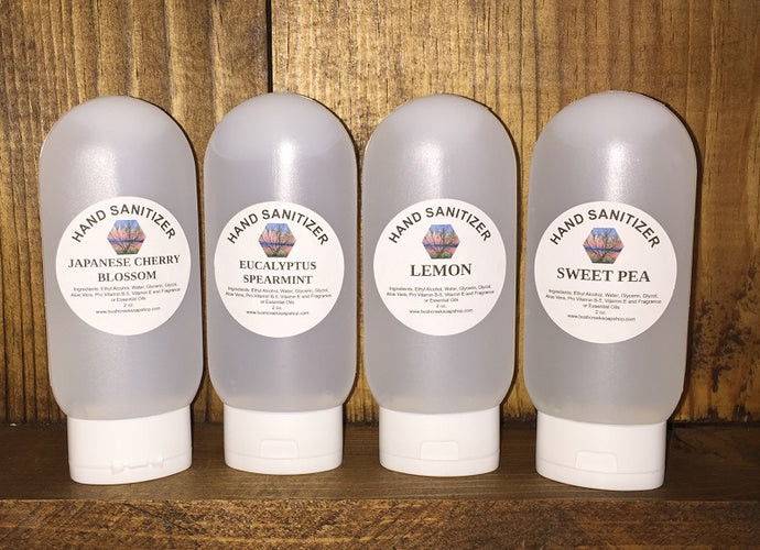 Handmade Bush Creek Soap Shop Hand Sanitizer 4 oz Travel Size 200 Fragrances L-Z