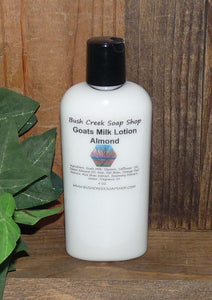Handmade Bush Creek Goats Milk Lotion Eczema Psoriasis 4 oz Travel Size 180 Fragrances L-Z Paraben Free Moisturizing