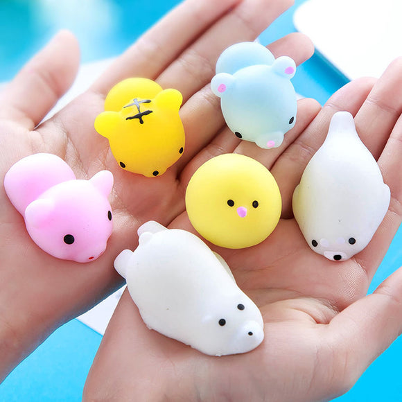 Novelty gift Little cat Vent Ball Action Figure Soft Robot Doll Relax Squeeze Stress Relief toys entertainment slime