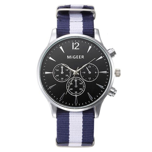 Luxury Fashion Canvas Mens Analog Wrist Watch