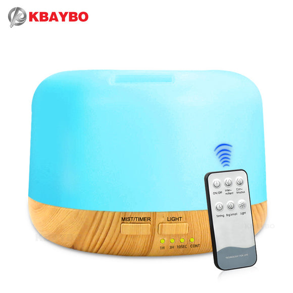 300ml Air Conditioning Humidifier  Aroma Essential Oil Diffuser Mist With 7 Color LED