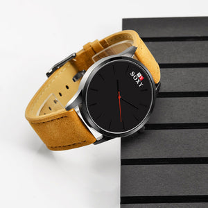 Men band analog quartz wrist watch