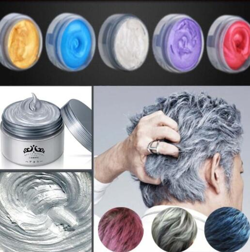 Unisex hair color Wax Dye One-time Molding Paste, Seven Colors Available