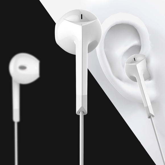 Earphone headphone with microphone headset stereo earbuds for iPhone and Android