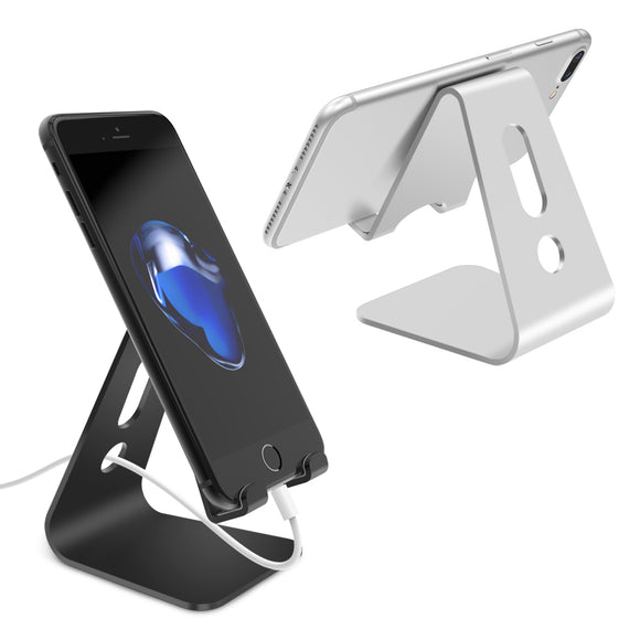 Universal Mobile Phone Holder Stand Aluminium Alloy Desk Holder For Phone Charging Stand Cradle Mount For iPhone Support