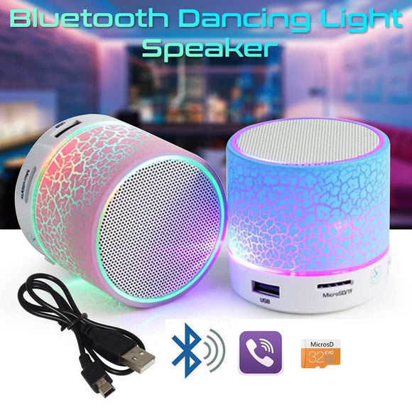 Mini LED Bluetooth stereo Speaker with mic For Phone