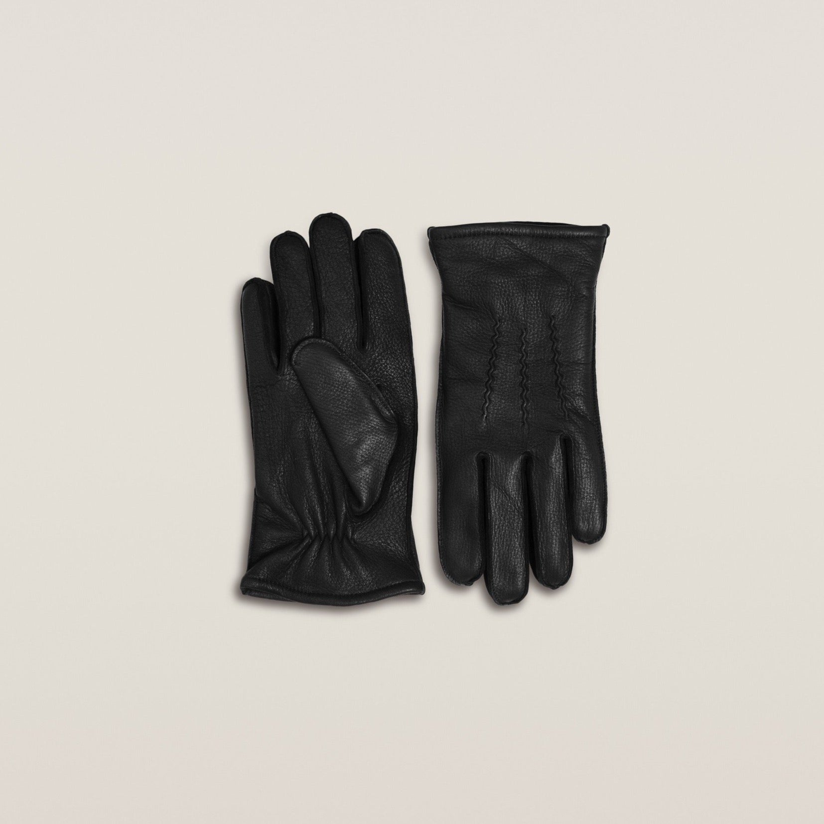 Gloves - Black Deer Leather