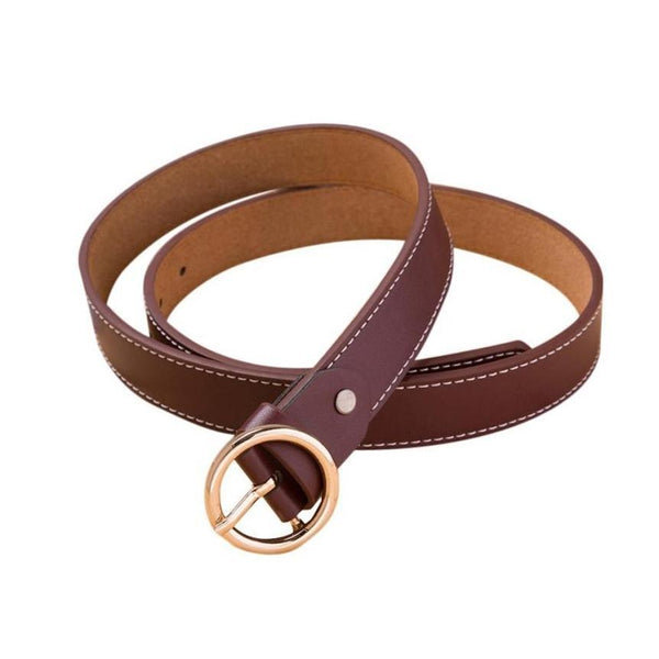 Vintage Thin Leather Belt