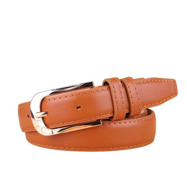 Luxury Leather Pin Belt