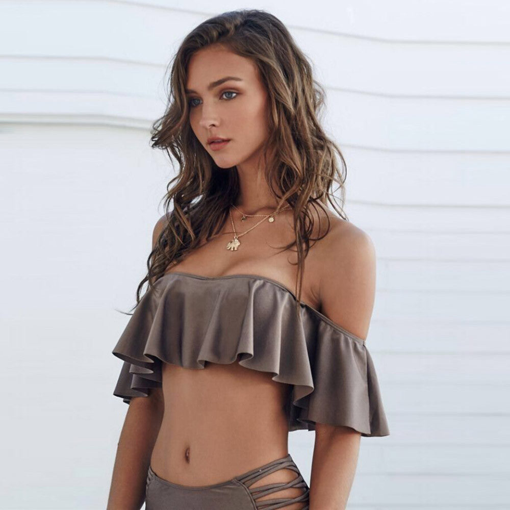 Brown High Waist Bikini - ShopShor