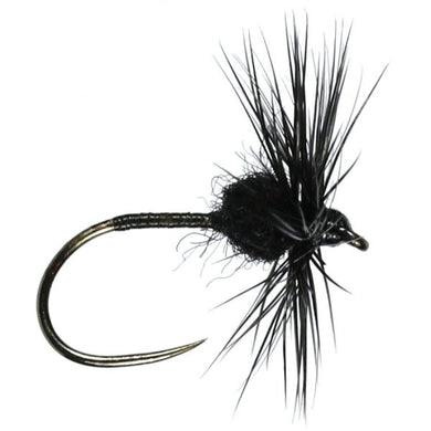 Black Spider Dry Size 18 Barbless