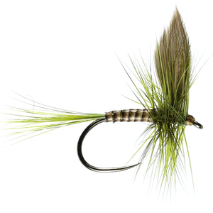 Olive Dun Barbless (Size 14)