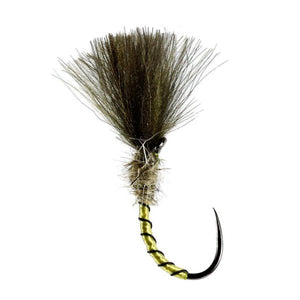 Shuttlecock Yellow Owl Buzzer Barbless